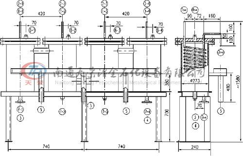主体结构多为三根采样管及一根支撑管
